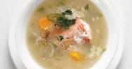 Ψαρόσουπα με ρύζι και λαχανικά