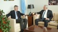 Συναντήσεις του Ευάγγελου Αποστολάκη με τον Αναπληρωτή ΓΓ ΟΗΕ και τον Αρχιεπίσκοπο Αμερικής (φωτο)
