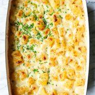 Πατάτες γκρατινέ με κρέμα τυριού