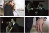 Πρόταση γάμου στο σινεμά - Η Έλενα είπε το «ναι» στο Χρήστο! (video)