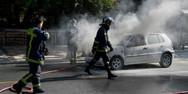 Πάτρα: Λαμπάδιασε αυτοκίνητο στην οδό Ελ. Βενιζέλου και Ακρωτηρίου