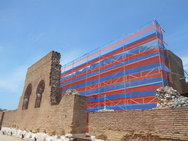 Το Ρωμαϊκό Ωδείο της Πάτρας 'φρεσκάρεται' εξωτερικά εν όψει καλοκαιριού (pics)