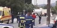 Τραγωδία με βυτιοφόρο στην Κορωπίου - Μαρκοπούλου