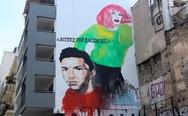Ο Ζακ Κωστόπουλος έγινε γκράφιτι στα Εξάρχεια (φωτο)