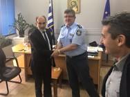 Αστυνομία, Δικαστήρια και ΕΦΚΑ επισκέφθηκε ο Απόστολος Κατσιφάρας (φωτο)