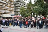 O Κώστας Πελετίδης μίλησε σε συγκέντρωση κατοίκων στην πλατεία Αγίας Σοφίας (φωτο)