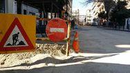 Πάτρα: Διακοπή κυκλοφορίας στην Κανακάρη λόγω βλάβης αγωγού ύδρευσης