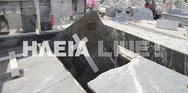 Ο σεισμός των 4,4 Ρίχτερ διέλυσε τάφους στο νεκροταφείο Ανδραβίδας (φωτο)