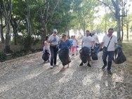 Η ομάδα του ΜέΡΑ25 Αχαΐας καθάρισε το Άλσος του έλους της Αγυιάς