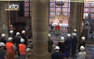 Τελέστηκε η πρώτη λειτουργία στην Παναγία των Παρισίων μετά τη φωτιά (video)