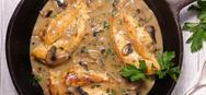 Συνταγή για κοτόπουλο με κρασί Marsala, μουστάρδα και μασκαρπόνε