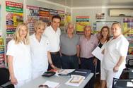 Πάτρα - Ο Γιώργος Κουτρουμάνης επισκέφθηκε το ΠΓΝΠ και τον «Άγιο Ανδρέα»!