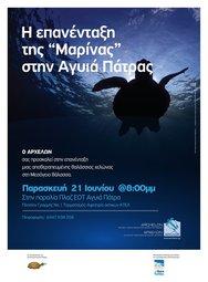 Απελευθέρωση θαλάσσιας χελώνας Caretta caretta στην Πλαζ