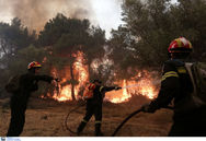Μεγάλη φωτιά στο Ηράκλειο - Απείλησε σπίτι και καλλιέργειες