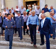 Ο Άγγελος Τσιγκρής δίπλα στην Ελληνική Αστυνομία και τους απόστρατους των σωμάτων ασφαλείας (φωτο)