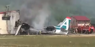 Αεροσκάφος πήρε φωτιά στη Ρωσία