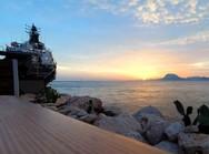 Πάτρα: Ειδυλλιακές στιγμές από το ηλιοβασίλεμα στην Μαρίνα (video)