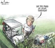 Το σκίτσο με τον Τραμπ και τον νεκρό πατέρα με το παιδί του στο ποτάμι, έφερε την... απόλυση σκιτσογράφου