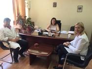 Επίσκεψη Ευσταθίας Γιαννιά στο Καραμανδάνειο Νοσοκομείο
