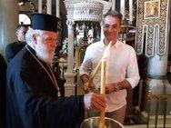 Ο Κυριάκος Μητσοτάκης επισκέφθηκε την Παναγία της Τήνου