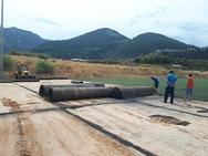 Πάτρα - Εργασίες για την αλλαγή χλοοτάπητα στο γήπεδο 'Ανδρέας Κάνιστρας' (φωτο)