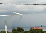 Eμφανίστηκε υδροστρόβιλος στην Άφυτο Χαλκιδικής