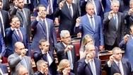 Η ορκωμοσία του Άγγελου Τσιγκρή στη Βουλή (φωτο)