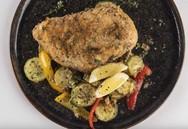 Συνταγή για κοτόπουλο ψητό light με κρούστα παρμεζάνας