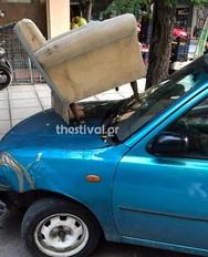 Θεσσαλονίκη - Πάρκαρε παράνομα και... τιμωρήθηκε!