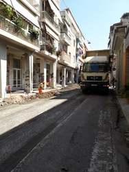 Πάτρα: Εργασίες οδοποιίας στην Κανακάρη (φωτο)