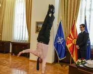 Ο πρέσβης του Ισραήλ έκανε κατακόρυφο μπροστά στον πρόεδρο της Β. Μακεδονίας