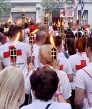 Το ταξίδι της «Φλόγας της Αγάπης» ξεκίνησε από τον Ελληνικό Ερυθρό Σταυρό