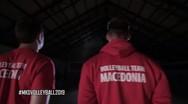Σκέτο 'Μακεδονία' στα μπλουζάκια των παικτών της Εθνικής βόλεϊ της Βόρειας Μακεδονίας