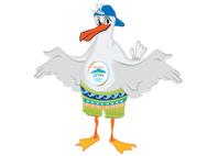 Πάτρα - Η μασκότ των Μεσογειακών Αγώνων... ετοιμάζεται για την επίσημη εμφάνισή της!