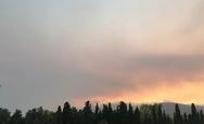 Μεγάλη φωτιά στην Εύβοια - Εκκενώθηκε η Μονή Μακρυμάλλης (video)