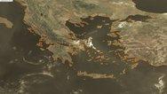 Φωτιά στην Εύβοια: Φωτογραφία από δορυφόρο δείχνει τον καπνό που έχει φτάσει μέχρι την Αττική