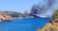 Μεγάλη φωτιά ξέσπασε στη Λέρο
