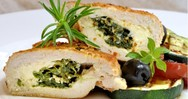 Κοτόπουλο ρολό με σπανάκι, φέτα και τυρί-κρέμα