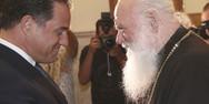 Ο Άδωνις Γεωργιάδης επισκέφθηκε τον Αρχιεπίσκοπο Ιερώνυμο