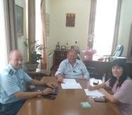 Αιγιάλεια: O Δημήτρης Καλογερόπουλος πραγματοποίησε συνάντηση με το Βασίλη Ροδόπουλο