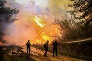 Μεγάλη φωτιά μαίνεται στη Ζάκυνθο