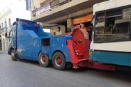 Πάτρα: 'Έμφραγμα' στο κέντρο με λεωφορείο που έπαθε βλάβη