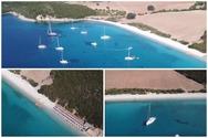 Εναέρια περιήγηση πάνω από το Βαθυαβάλι, την ομορφότερη παραλία της Αιτωλοακαρνανίας (video)