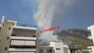 Μάχη με τις φλόγες στο Λουτράκι - Εκκενώθηκαν προληπτικά μοναστήρι και γηροκομείο