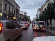Κυκλοφοριακό 'έμφραγμα' στο κέντρο της Πάτρας, λόγω βροχής