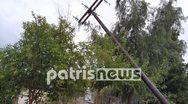 Ηλεία: Ανεμοστρόβιλος σάρωσε την Αμαλιάδα (φωτο)