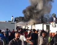 Φωτιά στη Μόρια: Στο νοσοκομείο Μυτιλήνης απανθρακωμένη σορός