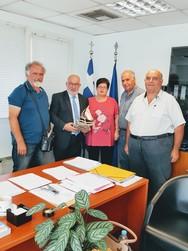 Συνάντηση αντιπροσωπείας του ΘΠΚΠ «Μέριμνα» με τον Αντιπεριφερειάρχη Π. Σακελλαρόπουλο