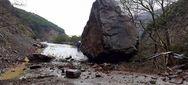 Ιωάννινα - Κατολισθήσεις και πτώσεις βράχων από την κακοκαιρία