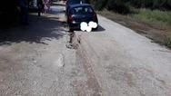 Πάτρα: Ο δρόμος 'κατάπιε' αυτοκίνητο στο Μιντιλόγλι